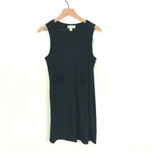 Michael Kors Black Shift Dress w/Tassels